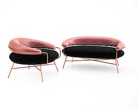 3D De Medici sofa and armchair by Hi Atelier