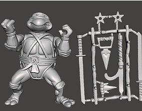LEONARDO VINTAGE TMNT TEENAGE MUTANT 3D print model 2