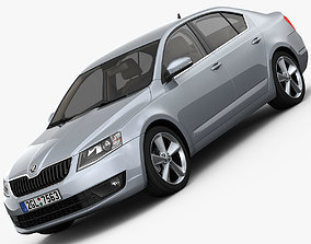 3D model Skoda Octavia 2014 detailed interior