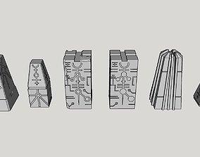 3D print model Ancient Robot Alien Monoliths