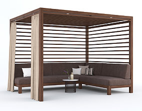 3D Garden Gazebo with sofa Equinox Cabana by TUUCI