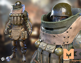 3D model rigged Soldier Sapper