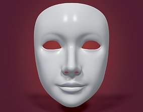Theater Mask with Neutral Expressions 3D asset