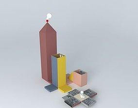 3D model Cotton-physics Cottonballs