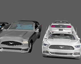 Cartoon car 3D model game-ready standard