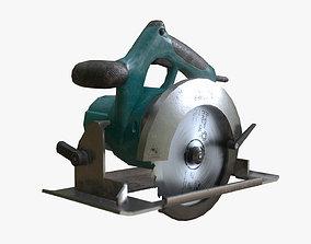 3D asset low-poly Circular Saw