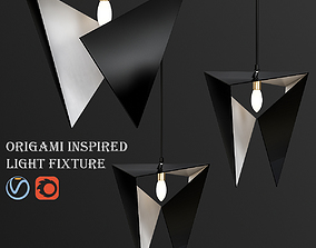 3D Origami inspired light fixture
