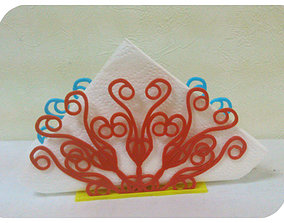 Stand for napkins Peacock Tail 3D print model