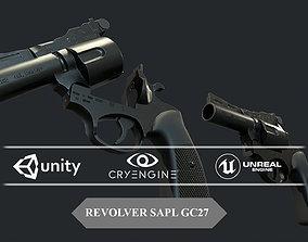 3D model game-ready REVOLVER SAPL GC27 Game Ready