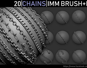 Zbrush - Chains IMM Brush and Meshes imm 3D model