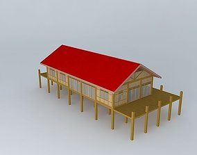 3D Wood Beach House
