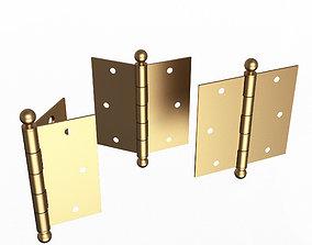 3D asset Brass Door Hinge