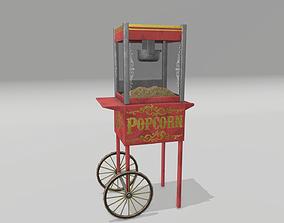 Popcorn Cart 3D model realtime