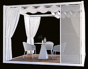 3D model Gazebo Varaschin Pavilion