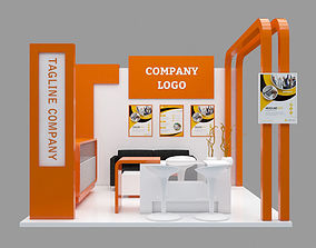 3D Booth Design 3x3 and poster templete