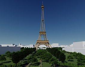 Effiel Tower - France - Paris The City of Love 3D asset
