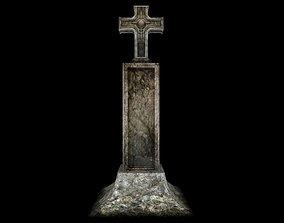 3D model Cross stone