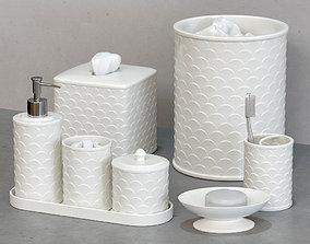 Scala Ivory Porcelain Bath Accessories 3D model