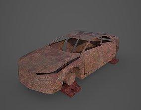 Damaged Car 3D asset
