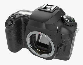 3D model DSLR camera body close