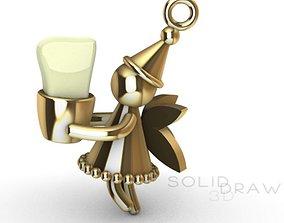 dental 3D print model Pendant tooth Fairy