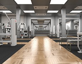 3D Gym Design For a Sports center in Oman