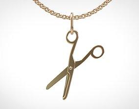3D print model Scissors pendant