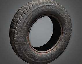 Old Tire TLS - PBR Game Ready 3D model