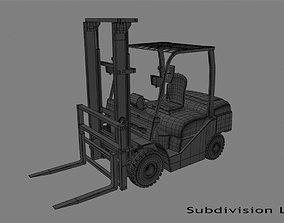3D asset game-ready Forklift