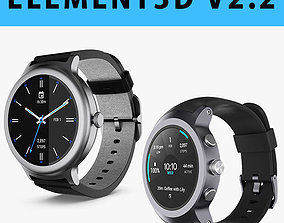 E3D - LG Watch Sport Watch Style Collection 3D