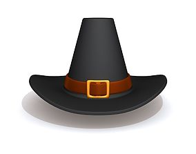 Thanksgiving Pilgrim Hat 3D model