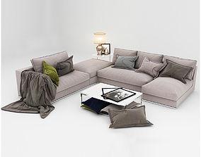 3D model Sofa furniture cushion