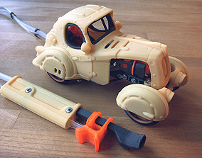 Pneumatic Toy Car With Body Kits 3D printable model