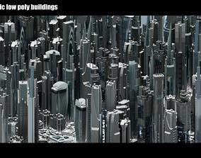 35 Futuristic Buildings VOL 1 3D asset