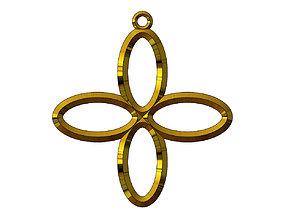 Collection of elliptical motif pendants 3D print model
