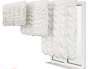 3D window French Curtain
