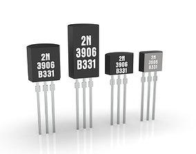 Mini Plastic Transistors 3D asset realtime