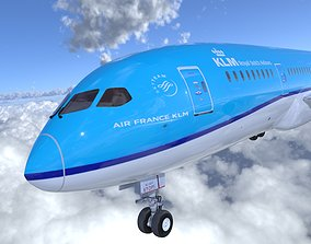 3D asset Boeing 787 Dreamliner high detailed model