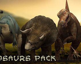animated 3DRT - Dinosaurs Pack