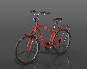3D model low-poly sport Bicycle