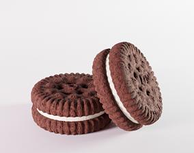 mini sandwich cookie 3D asset