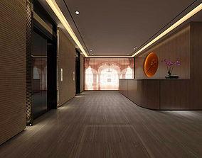 3D model Beauty salon reception hall spa center 07