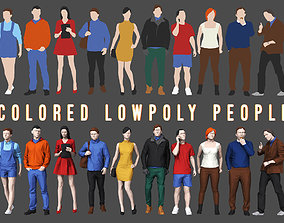 Colored Lowpoly People 3D asset