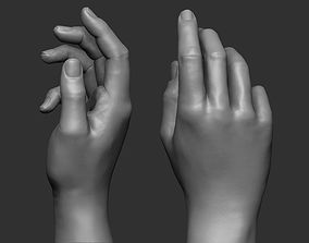 Female hand pose 2 3D printable model