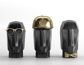 3D model Marble Head Trips Sculptures