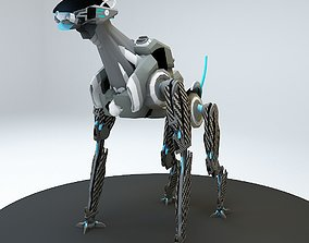 Robot guard dog 3D