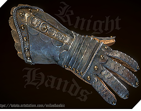 Medieval VR I FPS Knight Hands 3D model