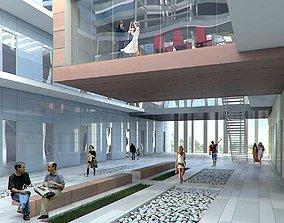 Public Hall Interior 02 3D model