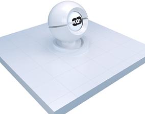 3D model White floor tiles