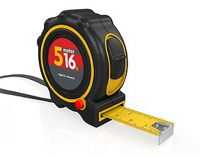 Realistic Tape Measure Animated Meter and 3D model